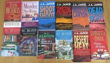 ELEVEN PAPERBACK MYSTERY NOVELS AND ONE GOOD HUMOR BOOK IN LIKE NEW CONDITION.