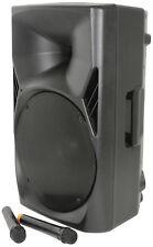 QTX Quest-15PA Portable PA unit 2 x VHF wireless mics USB/SD/FM player Bluetooth
