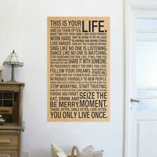 This Is Your Life - 1Pc Special Inspirational Quote Art Silk Poster 18x29 inch