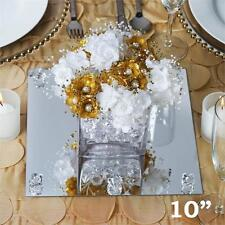 "10"" Square Glass Mirror Wedding Party Table Decorations Centerpieces - 6 PCS"