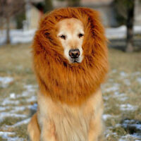 Pet Costume Lion Mane Wig for Dog Party Clothes Festival Fancy Funny Dress up