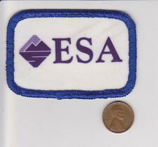 Vtg ESA Patch-Ecological Society of America-White Blue Purple-Mountian Logo-Tree