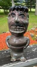 VINTAGE Southern FOLK ART SMILING GENTLEMAN POTTERY Sewer Tile Face Jug