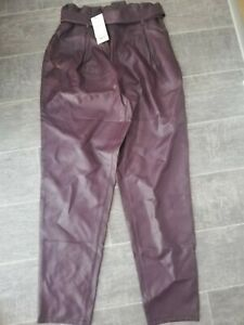 Lipsy BNWT Ladies Paperbag Faux Leather Purple  Size 12