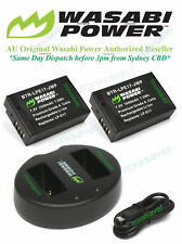 Wasabi LPE17 battery x 2 & Dual Charger for Canon LP-E17,EOS M3,M5,M6, Kiss X8i
