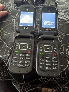 2 LG B470 (AT&T) Black Cellular Flip Phone both work perfect