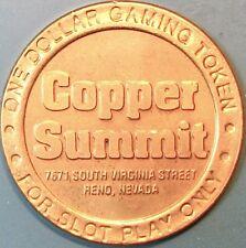 $1 Casino token. Copper Summit, Reno, Nv. P07.