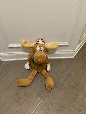 Rocky & Bullwinkle Christmas Plush Large Stuffed Moose