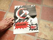 """belle affiche referendum 1958 :contre le communisme """"danger de mort"""""""