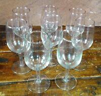 Set of 8 Champagne Glasses Crystal Clear Glass Stemware  Elegant Barware Set