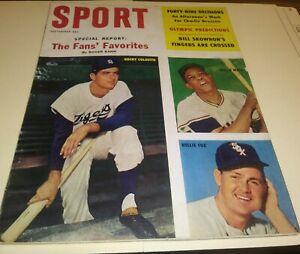 1960 Sept Sport magazine Willie Mays, Nellie Fox, Rocky Colavito cover
