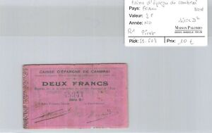 Ticket Need France - Caisse Shape Savings Bank of Cambrai Nord - 2 F Series D ²