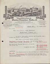 HALLE a. S., Brief 1930, Maschinen-Fabrik Gustav Drescher, Gartenspritzen