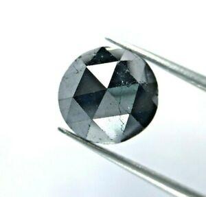 Grande Diamante Rotondo Naturale Nero 3.81TCW Rosa Taglio per Regalo