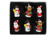6 weihnachtliche Hänger H.:3,8cm, Christbaumschmuck, Weihnachtsdeko