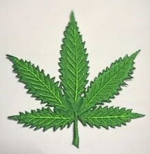Marijuana Leaf embroidered iron on patch A1728