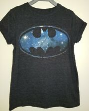 Boys Batman Short Sleeve T-shirt Top Black - 8-9 Years