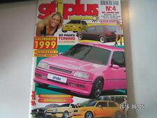 ** GTI plus n°4 GT Turbo / Peugeot 205 / BMW 320i / Twingo / Golf III / Cox US