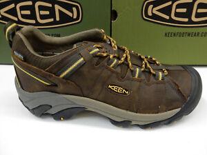 Keen Mens Targhee II Waterproof Wide Cascade Brown Golden Yellow 8