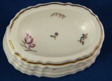 Rare 18thC Meissen Porcelain Floral Open Salt Dish Trencher Porzellan Saliere