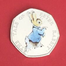 2017  Beatrix Potter 50p Coin Petter Rabbit From Sealed Bag UNC Colour Decal