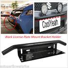 Black Car Bull Bar Bumper License Plate Mount Bracket Holder For Working Lights