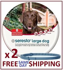 2 x Seresto Flea & Tick Collar for Large Dogs (over 18lbs)