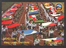 South Korea 1991 17th World Scout Jamboree Girl Scouts Postcard