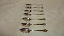 Mappin Webb Silver Plated Vintage Ornate Cutlery 7 x Grapefruit Spoons