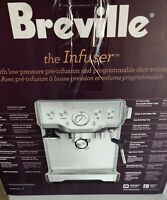 Breville BES840XL the Infuser Espresso Machine - Silver pre-owned. Only machine!