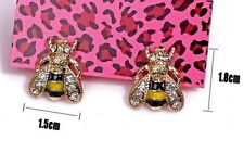 New Betsey Johnson Stud Bumble Bee Insect Summer Top Fashion Jewelry Earrings