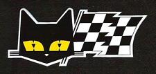 Marchal Cat Sticker, Driving Lights, Vintage Sports Car Racing Decal