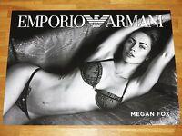 MEGAN FOX PROMO WERBE POSTER BY EMPORIO ARMANI / 70 x 50 CM MEGA RAR MINT NEU
