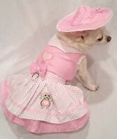 Harness Dress/Dog Dress/Dog clothes/Happy Turtle Harness /XS,S,M,L XL FREE SHIP