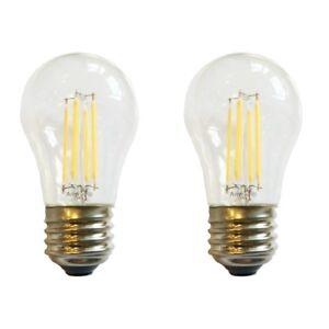 (2) LED A15 (40W Equivalent) Appliance Freezer Refrigerator Bulbs E26 Cool White