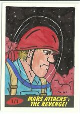 2017 Topps Mars Attacks The Revenge ! Space Soldier Sketch Card by Bobby Blakey