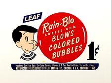 LEAF RAIN-BLO GUMBALL, VENDING,COIN OP, WATER SLIDE DECAL DL 1048
