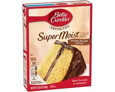 NEW DELIGHTS BETTY CROCKER SUPER MOIST BUTTER RECIPE YELLOW CAKE MIX 15.25 OZ