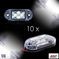 10x 24v 4 Led White Front Side Marker Lights Lamps Trailer Truck Lorry Trailer
