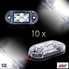 10x White 24v Led Side Front Marker Lights Lamps For Truck Man Daf Scania Volvo