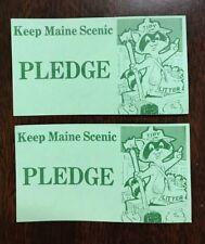 (2) Vintage Keep Maine Scenic Tidy Pledge Cards