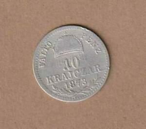 1873 K.B.;K.u.K. 10 Krajczar Ag, Ungarische Reichshälfte, AN10378 AMK.88 ss