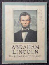 Vintage ABRAHAM LINCOLN John Hancock Life Insurance Co VG- 3.5 Booklet