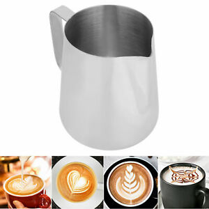 0.6L 1L 1.5L 2L Milk Craft Coffee Cup Frothing Mug Stainless Steel Jug Home Use