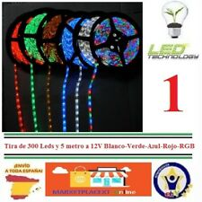 Tira de 300 Led 5 metros 12V Blanco-Verde-Azul-Rojo-RGB para interior  Led Strip