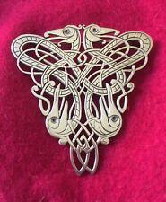 Large Tri-Dragon Tain Silver Brooch