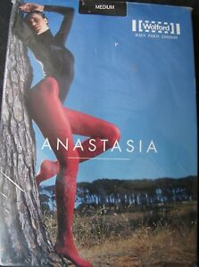 """Wolford Black """"Anastasia"""" 50 Denier Lace Up Tights"""