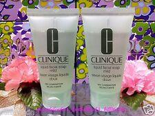 """CLINIQUE Liquid Facial Soap Mild ( Dry Comb ) ◆30mlX2◆""""smooth Wash"""" *FREE POST"""