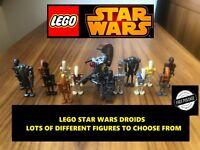 LEGO STAR WARS DROID minifigures ARMY BUILDER super battle droids pilot assassin
