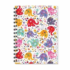 Elephant Cartoon Wire Bound Spiral Ruled Notebook Journal Diary Stationary Gift